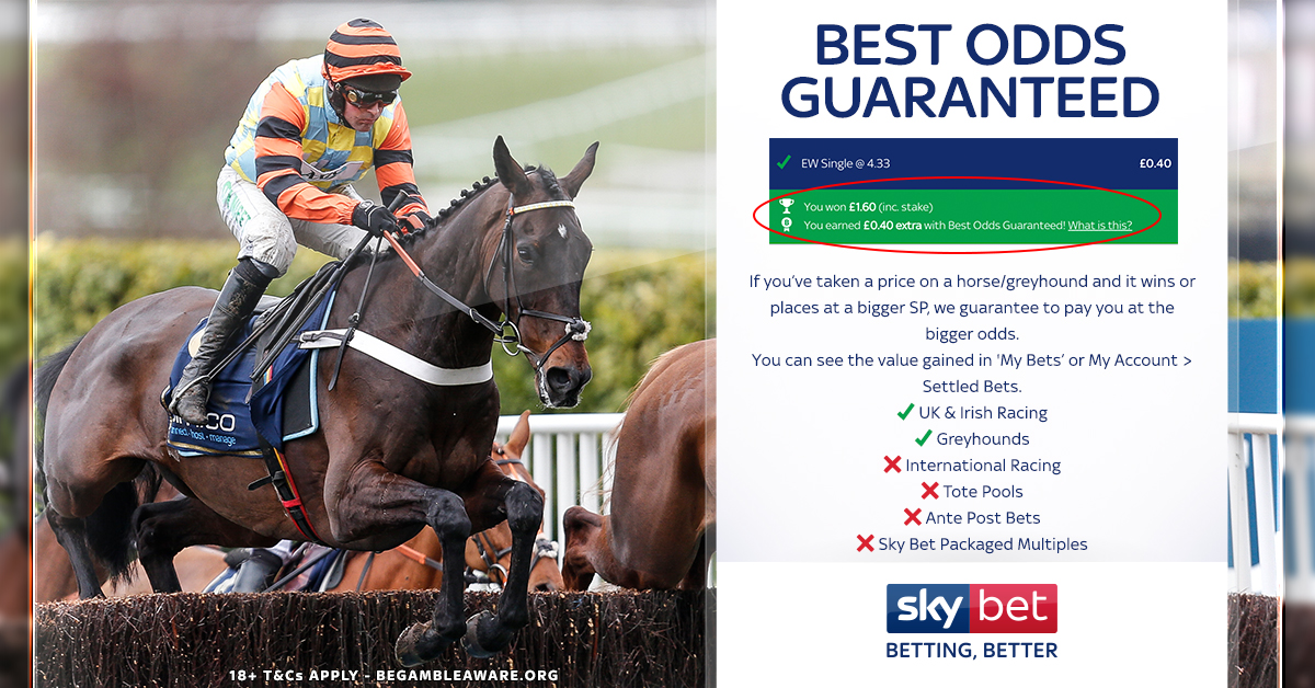 Image result for skybet best odds guaranteed
